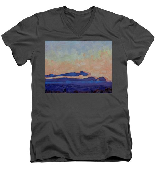 Saturday Stratocumulus Sunset Men's V-Neck T-Shirt