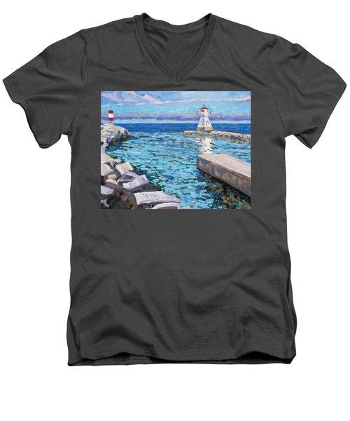 Saugeen Range Light Men's V-Neck T-Shirt