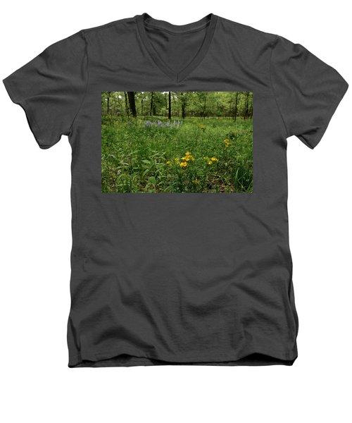 Savanna Men's V-Neck T-Shirt by Tim Good