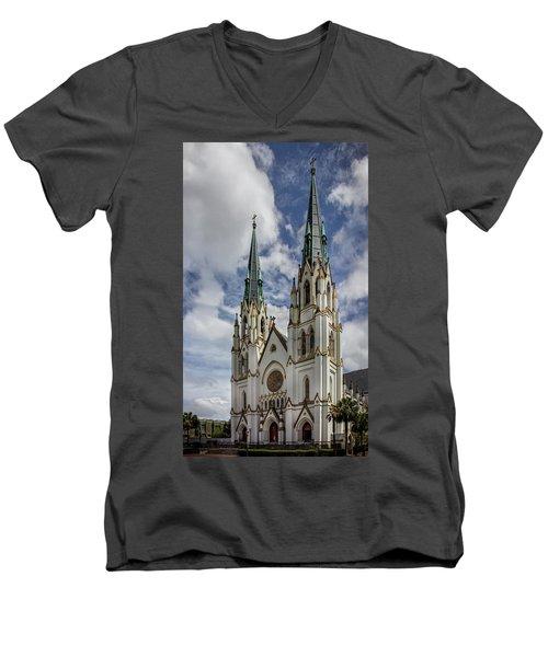 Savannah Historic Cathedral Men's V-Neck T-Shirt
