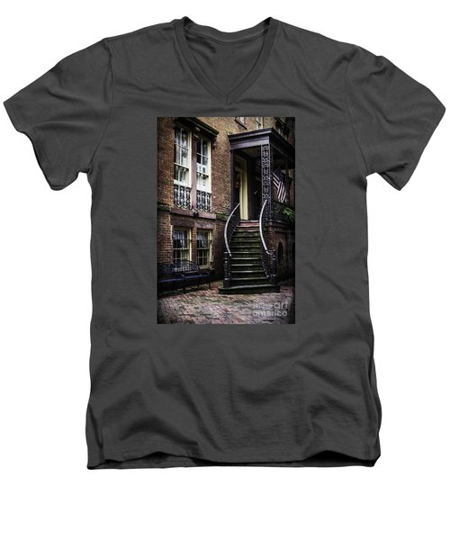 Men's V-Neck T-Shirt featuring the photograph Savannah by Judy Wolinsky
