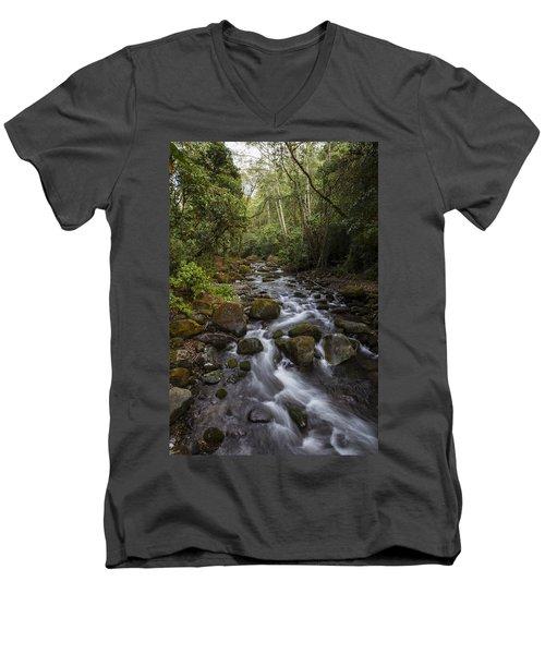 Savegre River - Costa Rica 4 Men's V-Neck T-Shirt