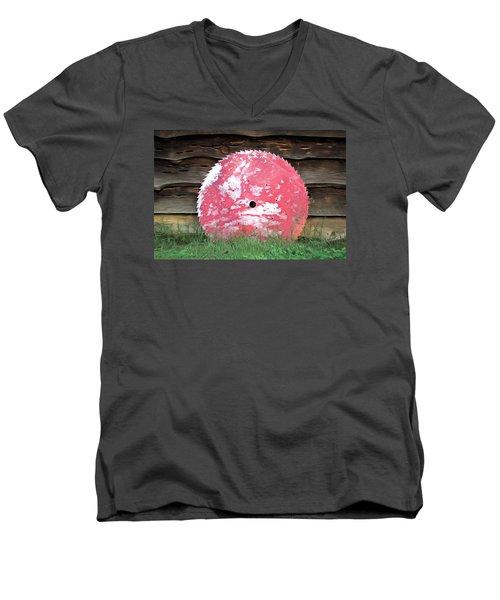 Saw Blade Men's V-Neck T-Shirt by Marion Johnson