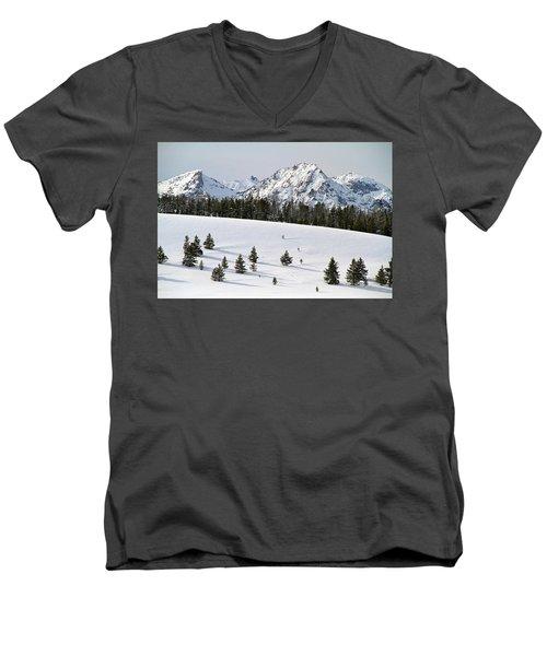 Sawtooth Wilderness Central Idaho Men's V-Neck T-Shirt
