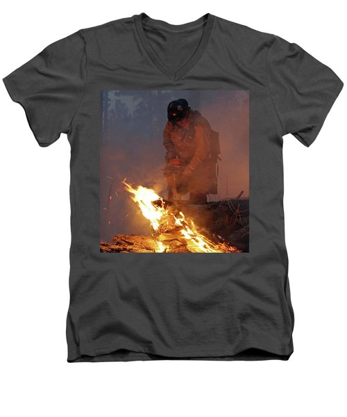 Sawyer, North Pole Fire Men's V-Neck T-Shirt