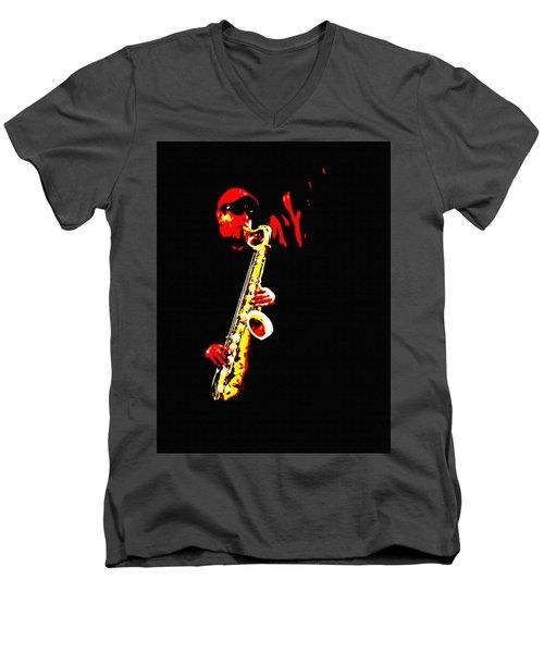 Sax Tribute Men's V-Neck T-Shirt