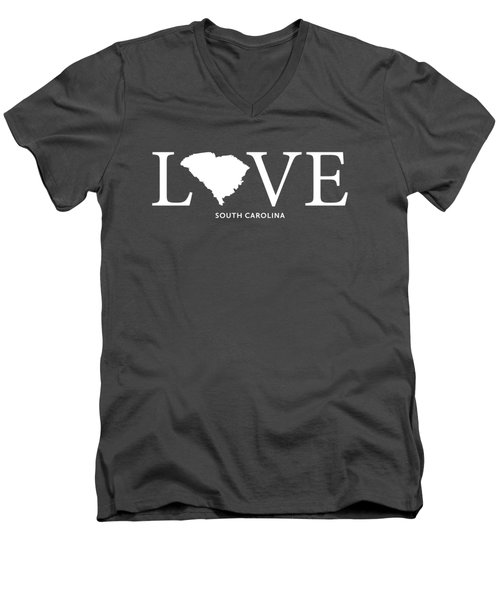 Sc Love Men's V-Neck T-Shirt by Nancy Ingersoll