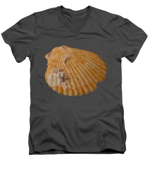 Scallop Shell With Guests Transparency Men's V-Neck T-Shirt