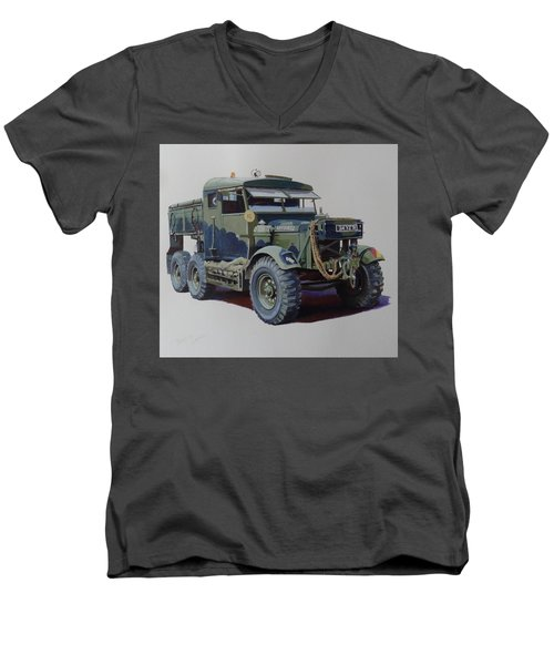 Scammell Pioneer Wrecker. Men's V-Neck T-Shirt by Mike  Jeffries