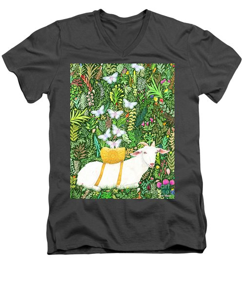 Scapegoat Healing Men's V-Neck T-Shirt by Lise Winne