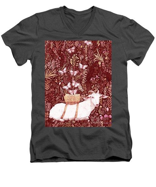 Scapegoat Healing Tapestry Print Men's V-Neck T-Shirt
