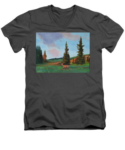 Scapegoat Summer Sunset Men's V-Neck T-Shirt