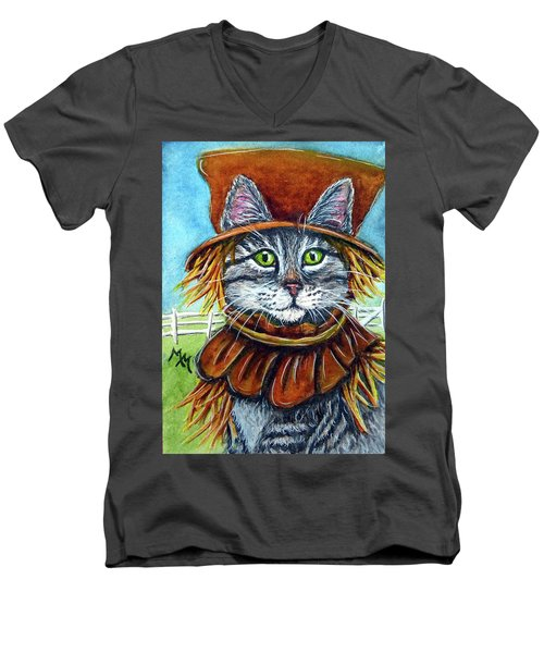 Scarecrow Tabby Men's V-Neck T-Shirt