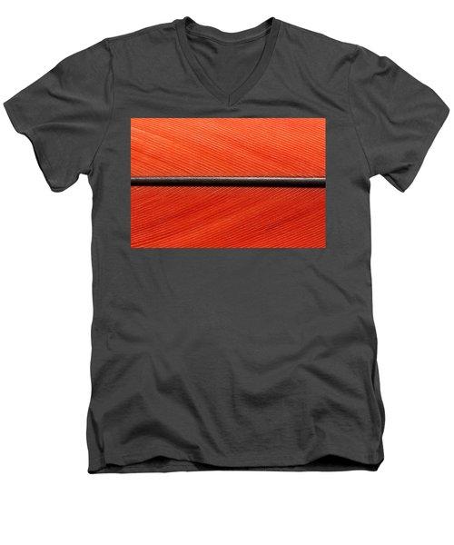 Scarlet Macaw Feather Men's V-Neck T-Shirt