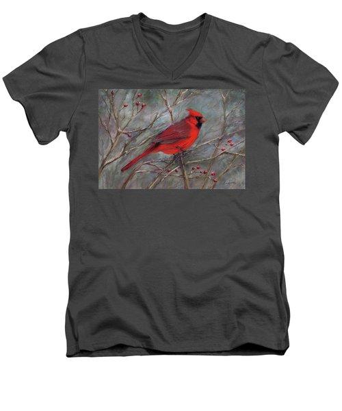 Scarlet Sentinel Men's V-Neck T-Shirt