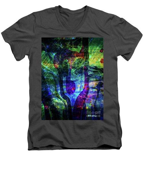 Scary Face-2 Men's V-Neck T-Shirt