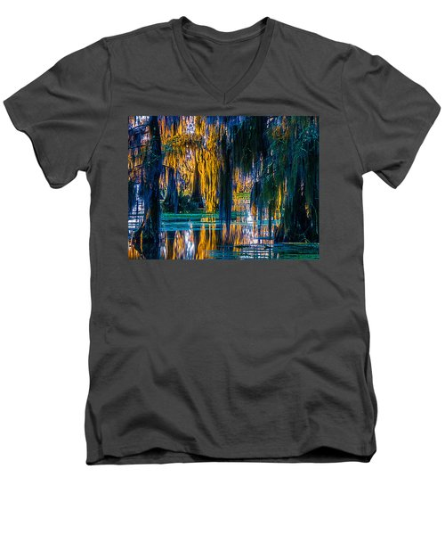 Scary Swamp In The Daytime Men's V-Neck T-Shirt