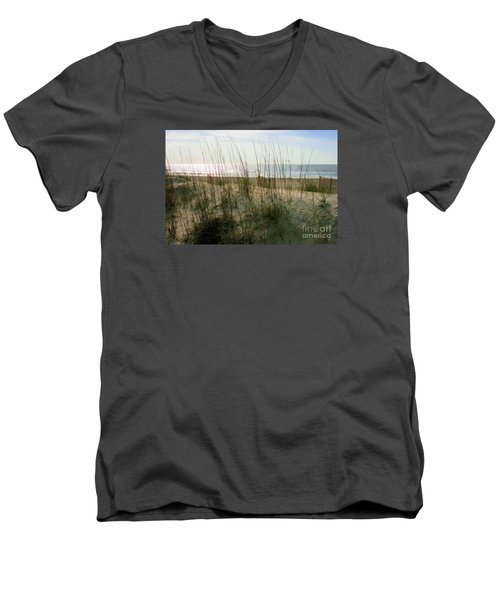Scene From Hilton Head Island Men's V-Neck T-Shirt by Angela Rath