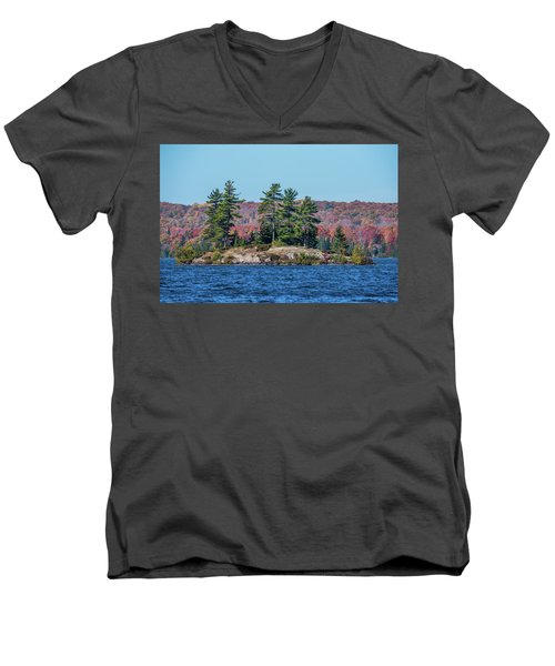 Men's V-Neck T-Shirt featuring the photograph Scenic Fall View by Paul Freidlund