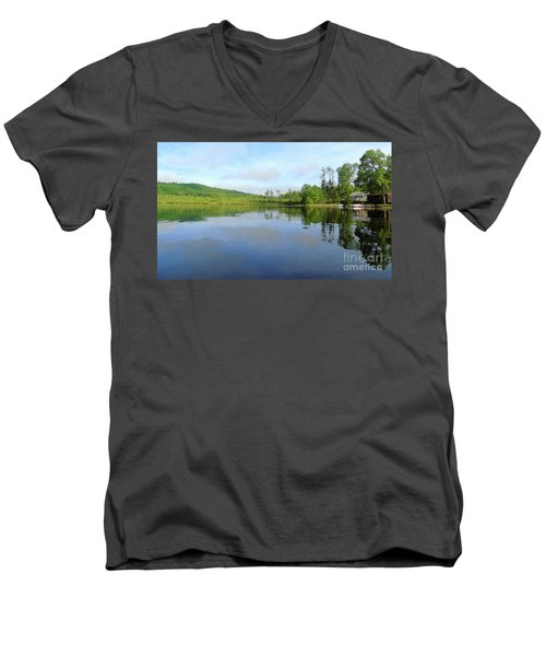 Scenic Gorham Pond #1 Men's V-Neck T-Shirt