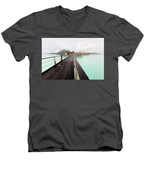 Scenic Walk To The Bungalow Men's V-Neck T-Shirt