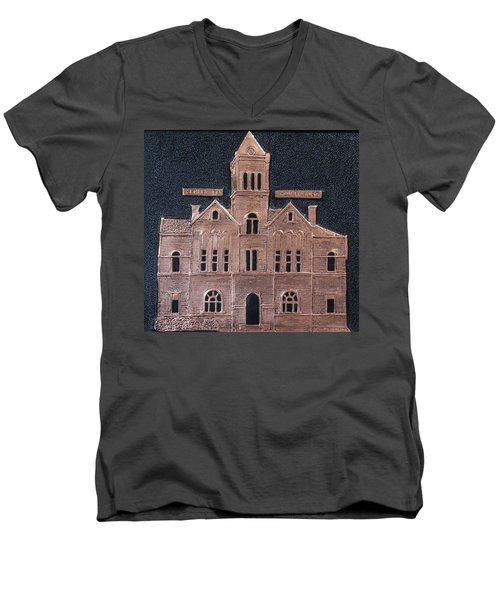 Schley County, Georgia Courthouse Men's V-Neck T-Shirt