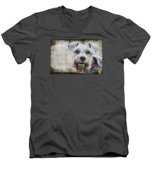 Schnauzer Fellow Men's V-Neck T-Shirt