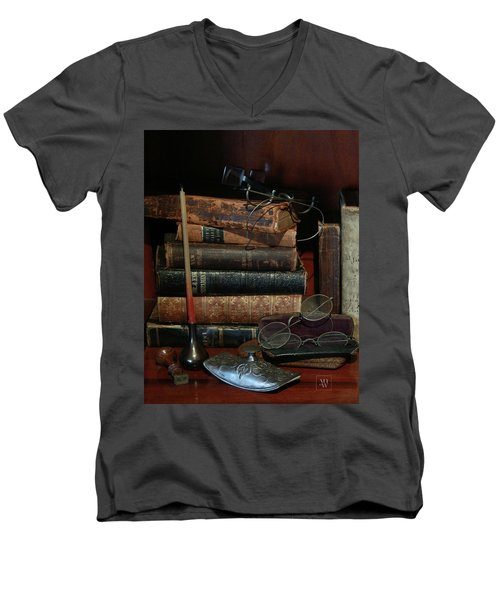 Scholar's Attic Men's V-Neck T-Shirt
