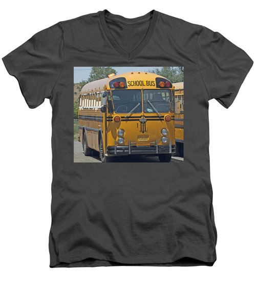 School Bus Men's V-Neck T-Shirt