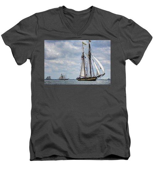Schooner Pride Of Baltimore Men's V-Neck T-Shirt