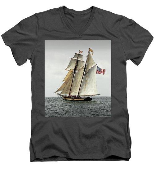 Schooner Pride Of Baltimore II Men's V-Neck T-Shirt