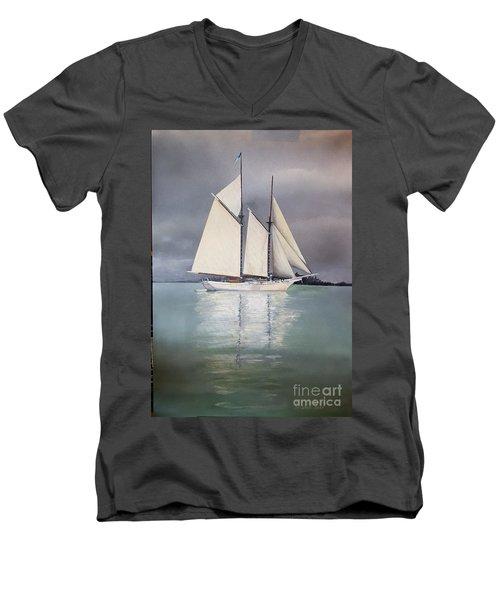 Schooner Men's V-Neck T-Shirt
