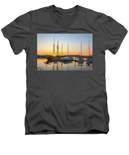 Schooners Sunburst Men's V-Neck T-Shirt by Angelo Marcialis