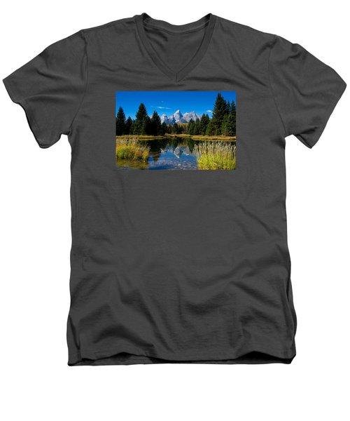 Schwabacher Landing Reflection Men's V-Neck T-Shirt