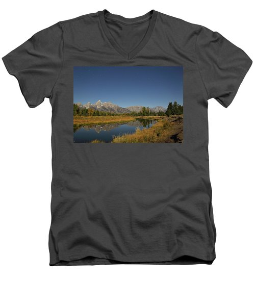 Schwabacher's Landing In Moonlight Men's V-Neck T-Shirt