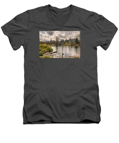 Schwabachers Landing Men's V-Neck T-Shirt by John Gilbert