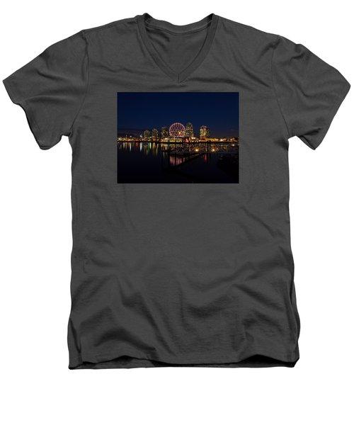 Science World Nocturnal Men's V-Neck T-Shirt