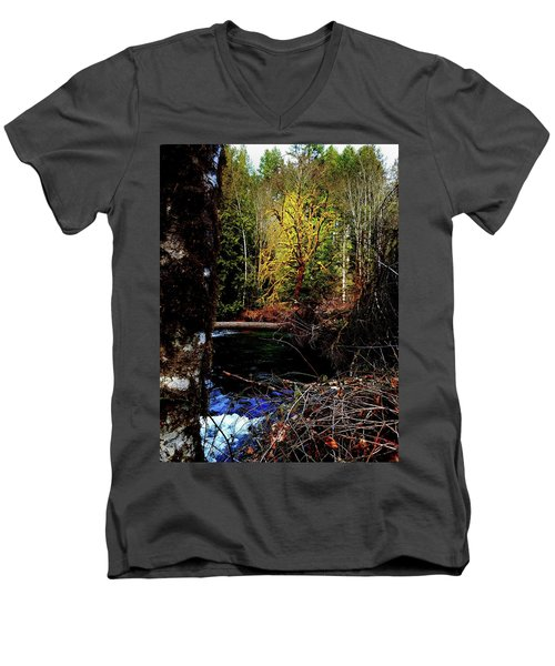 Scoggins Creek 3 Men's V-Neck T-Shirt by Jerry Sodorff