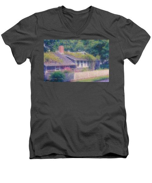 Sconset Cottage #3 Men's V-Neck T-Shirt
