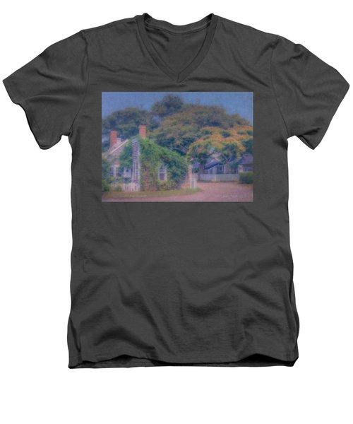 Sconset Cottages Nantucket Men's V-Neck T-Shirt