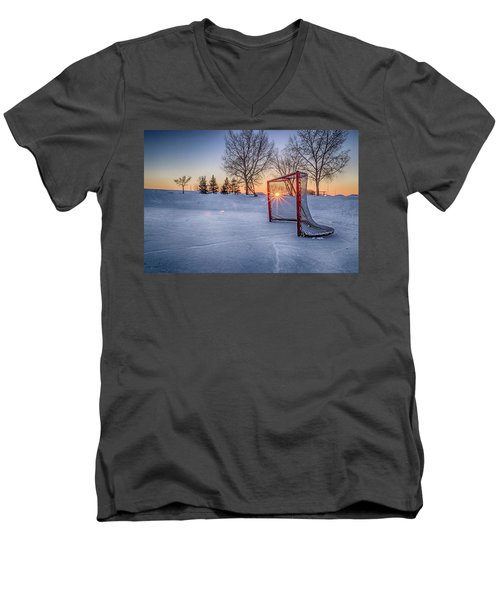 Men's V-Neck T-Shirt featuring the photograph Scoring The Sunset 3 by Darcy Michaelchuk