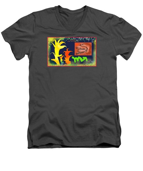 Men's V-Neck T-Shirt featuring the digital art Scorpio by The Art of Alice Terrill