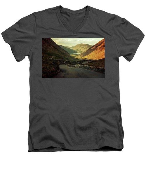 Scotland At The Sunset Men's V-Neck T-Shirt by Jaroslaw Blaminsky