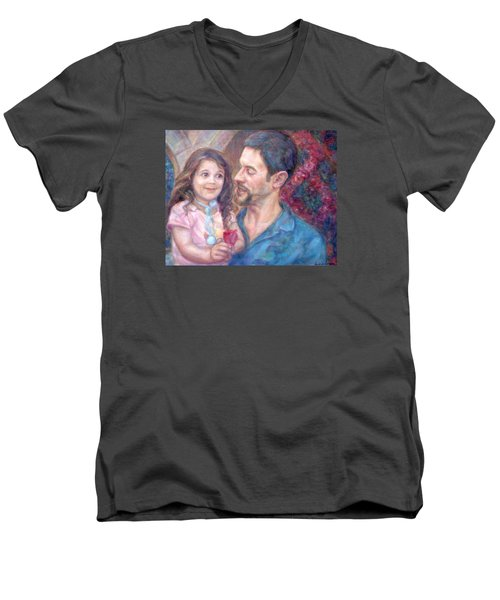 Scott And Sam Commission Men's V-Neck T-Shirt by Quin Sweetman