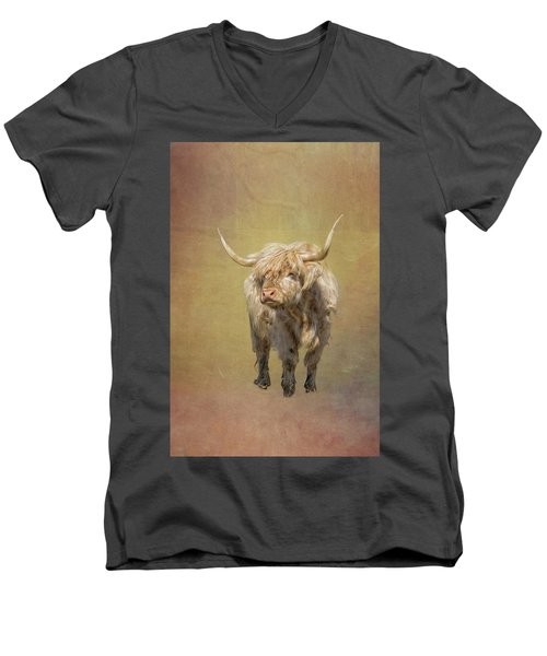 Scottish Highlander Men's V-Neck T-Shirt