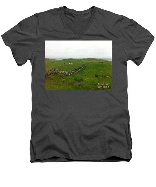 Scottish Wall Men's V-Neck T-Shirt