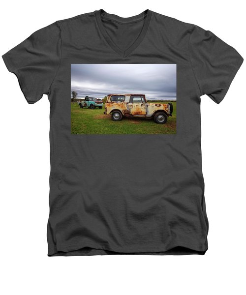 Men's V-Neck T-Shirt featuring the photograph Scouts And Sky by Alan Raasch