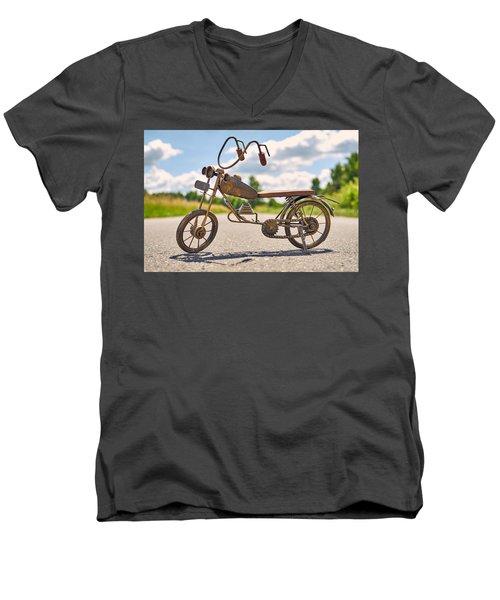 Scrawny Men's V-Neck T-Shirt