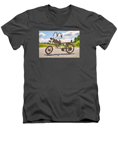 Scrawny Men's V-Neck T-Shirt