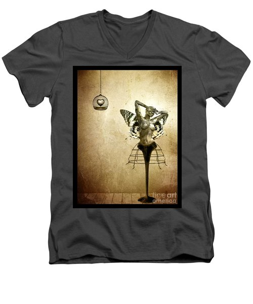 Scream Of A Butterfly Men's V-Neck T-Shirt
